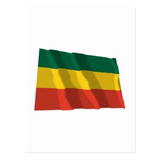Ethiopia Waving Civil Flag Postcard