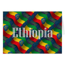 Ethiopia Waving Flag Card