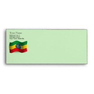 Ethiopia Waving Flag Envelopes