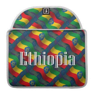 Ethiopia Waving Flag Sleeve For MacBooks