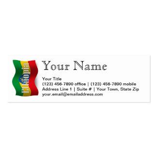 Ethiopia Waving Flag Mini Business Card