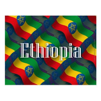 Ethiopia Waving Flag Postcard