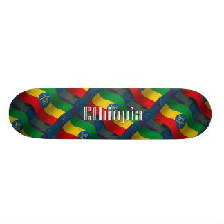 Ethiopia Waving Flag Skate Board