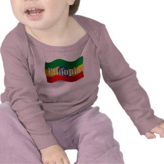 Ethiopia Waving Flag T-shirt