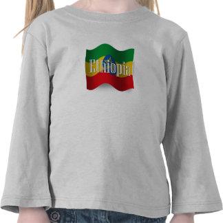 Ethiopia Waving Flag T Shirts