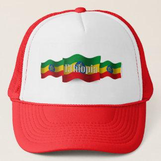 Ethiopia Waving Flag Trucker Hat