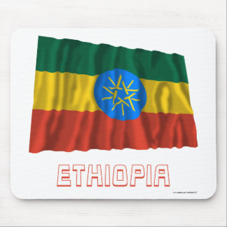 Ethiopia Waving Flag with Name Mouse Pad