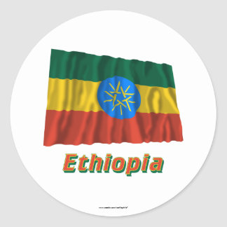 Ethiopia Waving Flag with Name Stickers