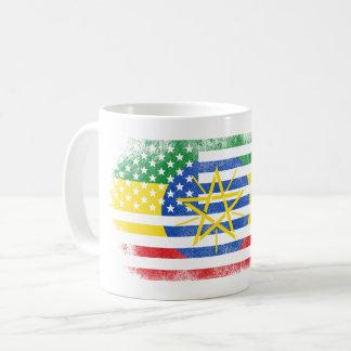 Ethiopian American Flag   Ethiopia and USA Design Coffee Mug