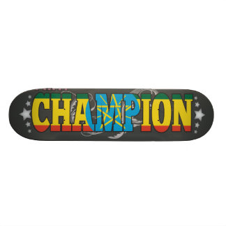 Ethiopian and a Champion Skateboard Decks