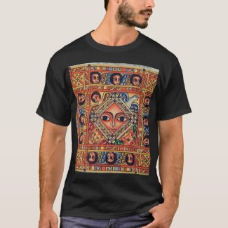 Ethiopian Bible Church Painting - Black T-Shirt