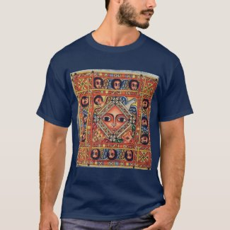 Ethiopian Bible Church Painting - Blue T-Shirt