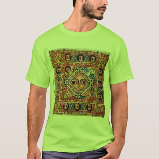 Ethiopian Bible Church Painting - Green T-Shirt