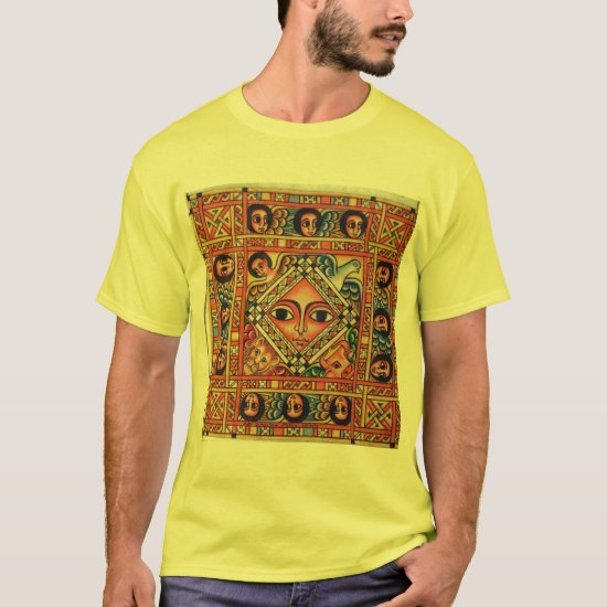 Ethiopian Bible Church Painting - Yellow T-Shirt