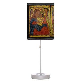 Ethiopian Black Madonna with Jesus Desk Lamp