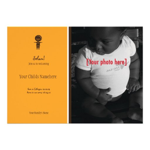 Ethiopian Boy Adoption Announcement