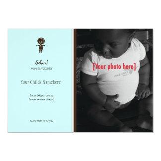 "Ethiopian Boy Adoption Announcement 5"" X 7"" Invitation Card"