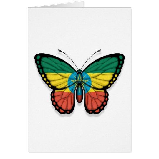 Ethiopian Butterfly Flag Card