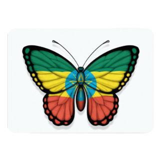 "Ethiopian Butterfly Flag 5"" X 7"" Invitation Card"
