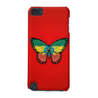 Ethiopian Butterfly Flag on Red iPod Touch (5th Generation) Cover
