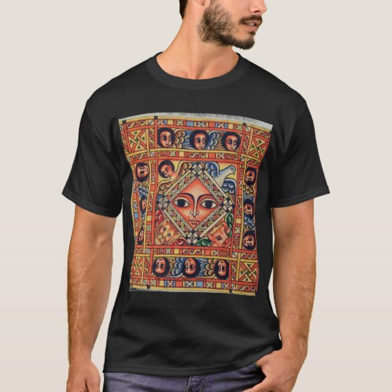 Ethiopian Church Painting - Angels Black T-Shirt