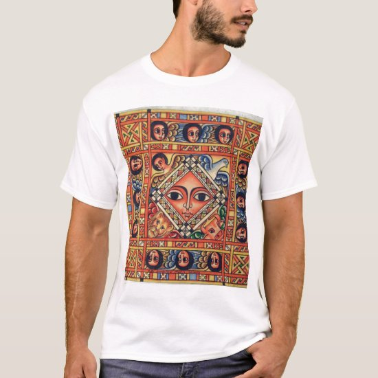 Ethiopian Church Painting - Angels White T-Shirt