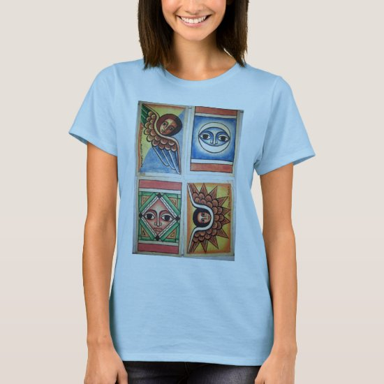 Ethiopian Church Painting - Baby Blue T-Shirt