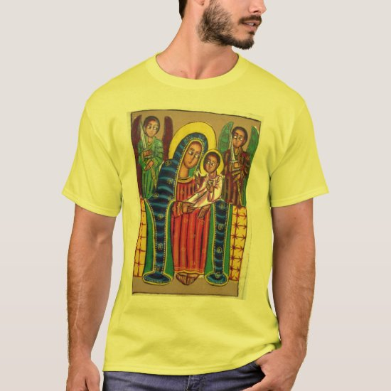 Ethiopian Church Painting - Black Maryam T-Shirt