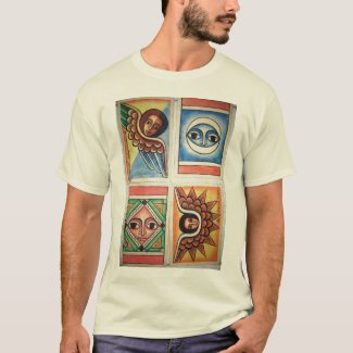 Ethiopian Church Painting - Natural T-Shirt