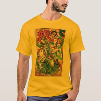 Ethiopian Church Painting - Saint Gabreal Kidus T-Shirt