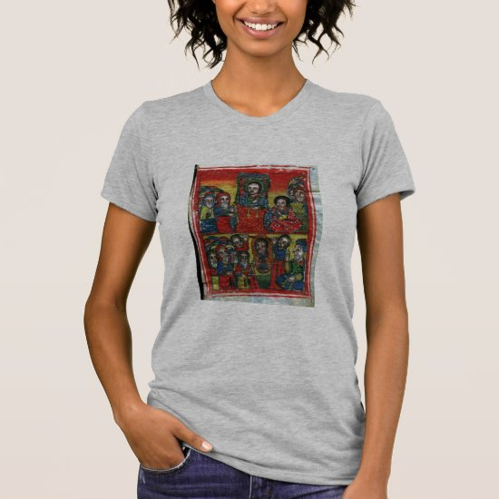 Ethiopian Church Painting -T-Shirt Black Mary grey T-Shirt