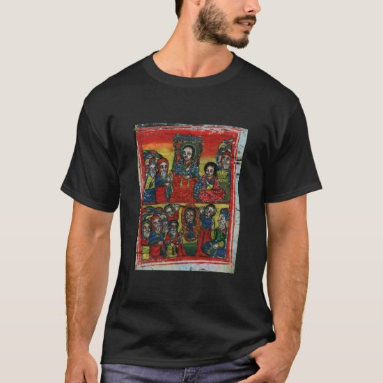 Ethiopian Church Painting - T-Shirt Black Maryam