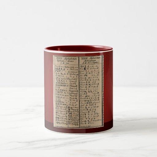 Ethiopian-Coptic Alphabet Two-Tone Coffee Mug