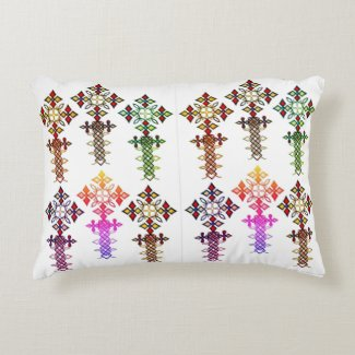 Ethiopian Cross Custom Brushed Accent Pillow