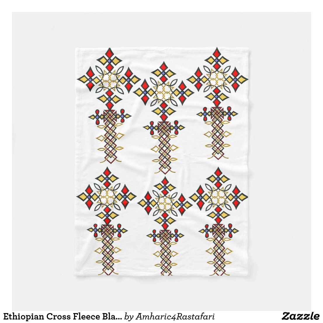 Ethiopian Cross Fleece Blanket