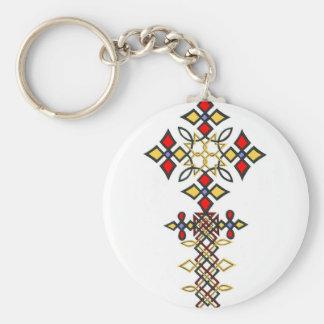Ethiopian Cross Keychain