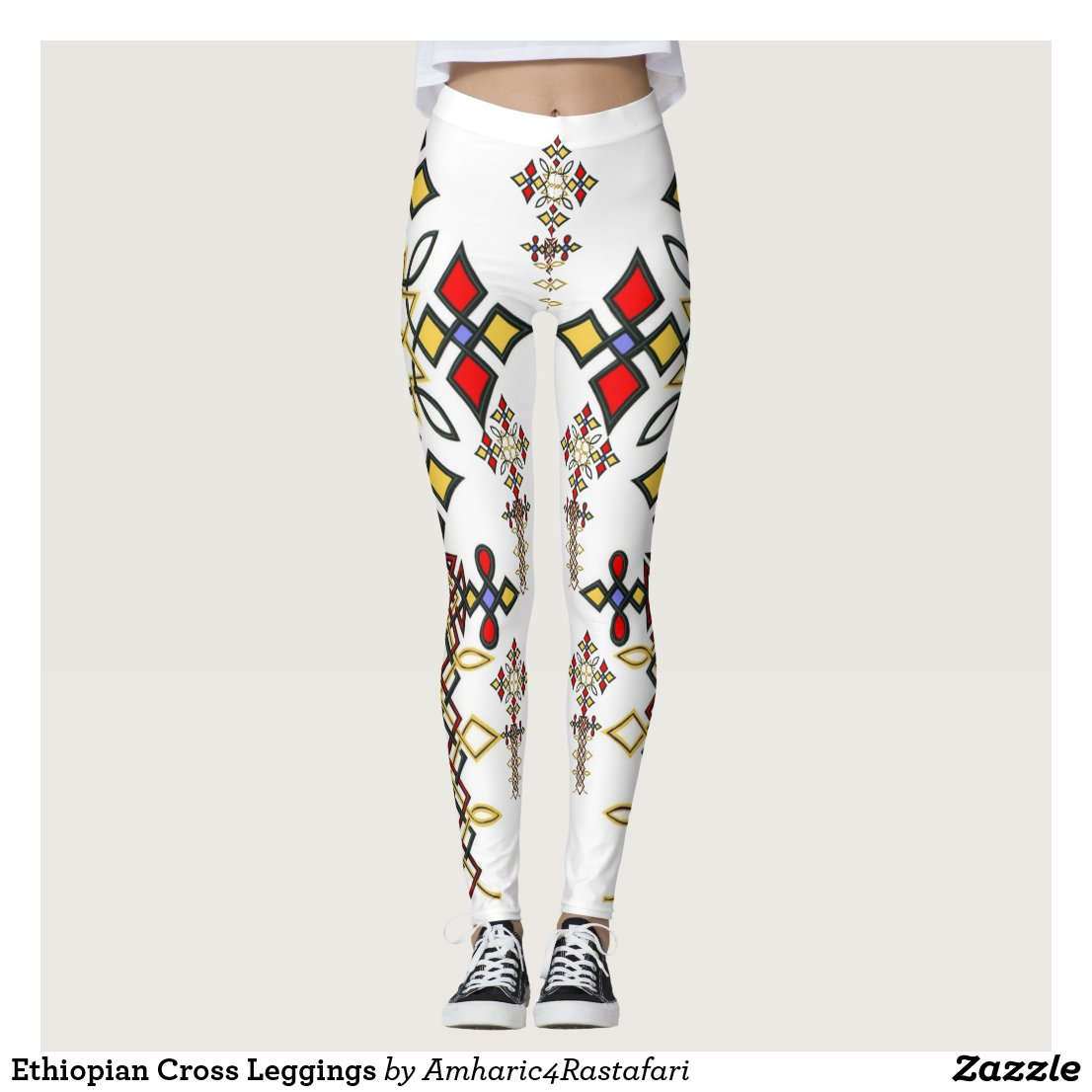 Ethiopian Cross Leggings