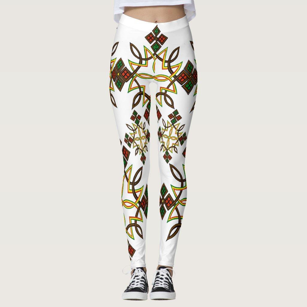 Ethiopian Cross Leggings