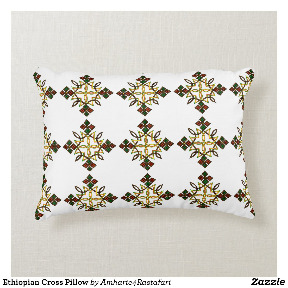 Ethiopian Cross Pillow