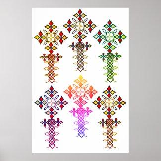Ethiopian Cross Poster