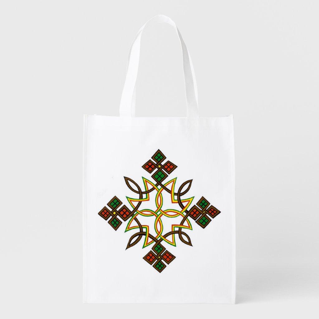 Ethiopian Cross Reusable Bags, Hoodies, T-Shirts