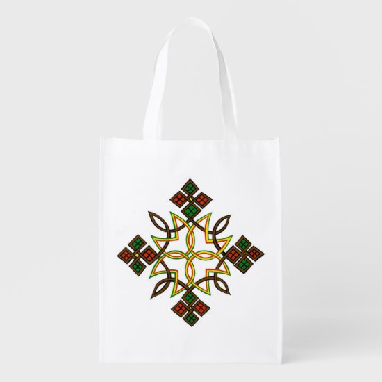 Ethiopian Cross Reusable Bags, Hoodies, T-Shirts Reusable Grocery Bag
