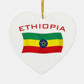 Ethiopian Flag 2 Ceramic Ornament