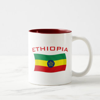 Ethiopian Flag 2 Two-Tone Coffee Mug