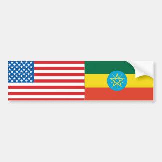 Ethiopian Flag Car Bumper Sticker