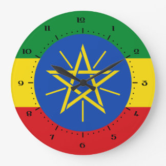 Ethiopian flag Clocks