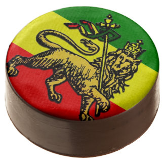 Ethiopian Flag Lion of Judah Chocolate Covered Oreo