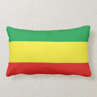Ethiopian Flag Lumbar Pillow