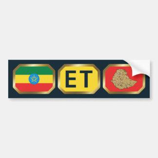 Ethiopian Flag Map Code Bumper Sticker