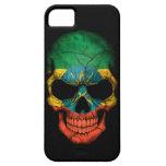 Ethiopian Flag Skull on Black iPhone 5/5S Cases